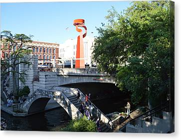 Canvas Print featuring the painting San Antonio River 01 by Shawn Marlow