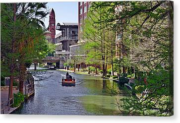 San Antonio River Walk Canvas Print by Christine Till