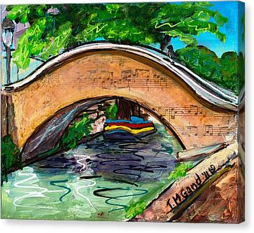 San Antonio River Walk Footbridge Canvas Print