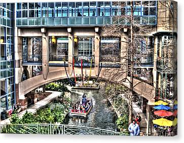 Canvas Print featuring the photograph San Antonio Riverwalk by Deborah Klubertanz