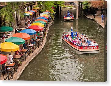 San Antonio Riverwalk - Paseo Del Rio Canvas Print