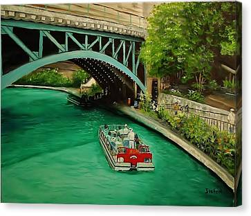 San Antonio Riverwalk Canvas Print by Stefon Marc Brown