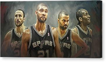 San Antonio Spurs Artwork Canvas Print by Sheraz A