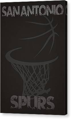 San Antonio Spurs Hoop Canvas Print by Joe Hamilton