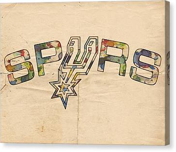 San Antonio Spurs Retro Poster Canvas Print