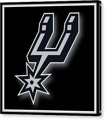 San Antonio Spurs Canvas Print by Tony Rubino