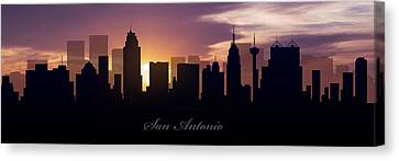 San Antonio Sunset Canvas Print by Aged Pixel