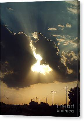 Canvas Print featuring the photograph San Antonio Sunset by Peter Piatt
