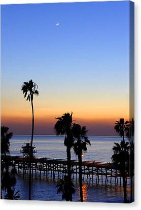 San Clemente Moonlight Canvas Print by Richard Stout