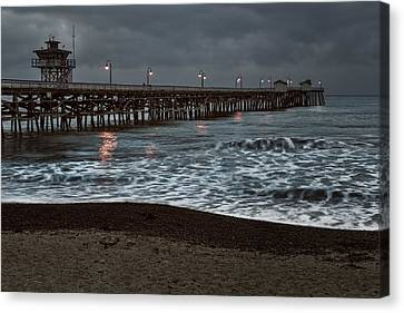 San Clemente Pier Dawn Canvas Print