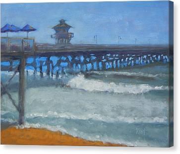San Clemente Pier Canvas Print by Kent Pace