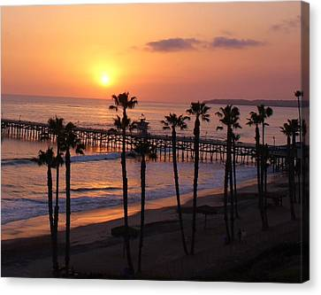 San Clemente Pier Canvas Print by Kristy  Morris