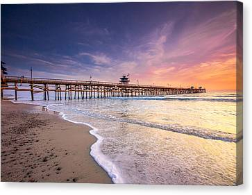 San Clemente Pier Canvas Print by Robert  Aycock