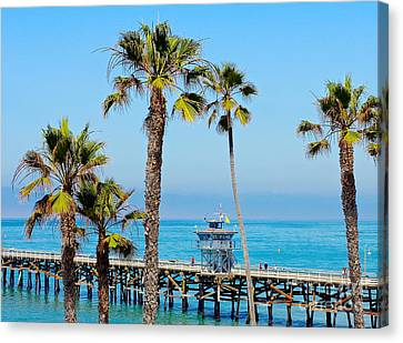 San Clemente Pier Canvas Print by Suzanne Oesterling