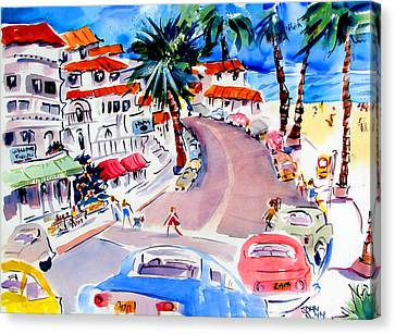 San Clemente Strip Canvas Print by John Dunn