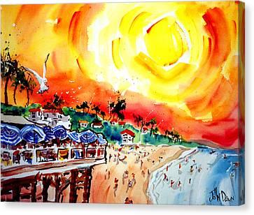 San Clemente Sun Canvas Print by John Dunn