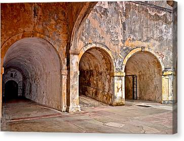 Canvas Print featuring the photograph San Cristobal Fort Tunnels by Ricardo J Ruiz de Porras