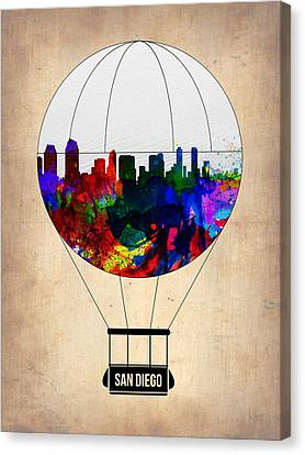 San Diego Air Balloon Canvas Print by Naxart Studio
