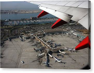 Canvas Print featuring the photograph San Diego Airport Plane Wheel by Nathan Rupert