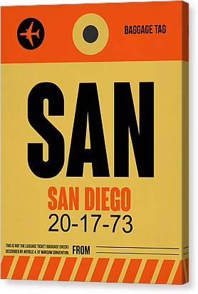 San Diego Airport Poster 1 Canvas Print by Naxart Studio