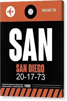 San Diego Airport Poster 3 Canvas Print by Naxart Studio