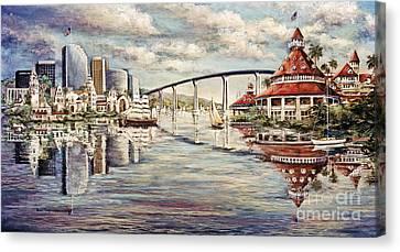 San Diego And Coronado Heritage Canvas Print