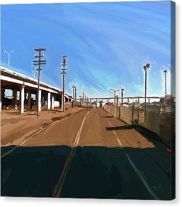 Canvas Print featuring the painting San Diego California Usa by Nop Briex