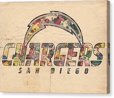 San Diego Chargers Poster Vintage Canvas Print by Florian Rodarte