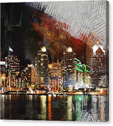 San Diego City Collage 3 Canvas Print by Corporate Art Task Force