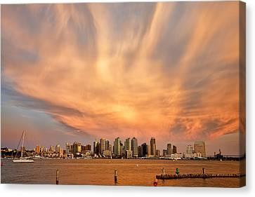 San Diego Cloud Burst Canvas Print by Peter Tellone