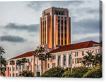 San Diego County Administration Center Canvas Print by Photographic Art by Russel Ray Photos