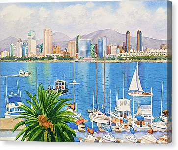 City Scenes Canvas Print - San Diego Fantasy by Mary Helmreich