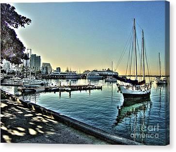 San Diego Harbor Canvas Print by Steven Parker