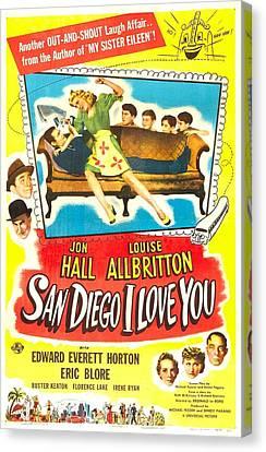 San Diego I Love You, Us Poster, Jon Canvas Print