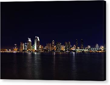 San Diego Night Lights Canvas Print by Brook Burling