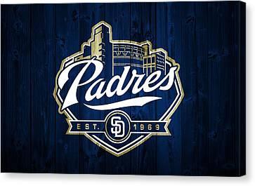 Petco Park Canvas Print - San Diego Padres Barn Door by Dan Sproul