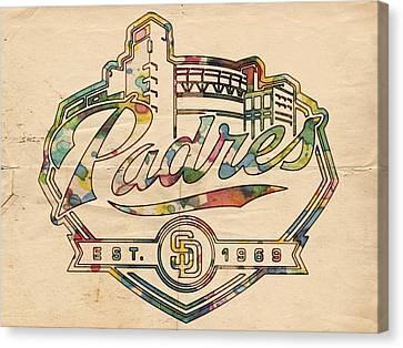 San Diego Padres Memorabilia Canvas Print by Florian Rodarte