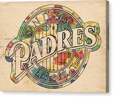 San Diego Padres Poster Art Canvas Print by Florian Rodarte