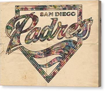 San Diego Padres Poster Vintage Canvas Print by Florian Rodarte