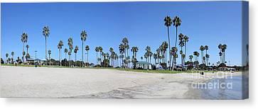 San Diego Panoramic Canvas Print by Tony Cordoza