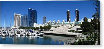 San Diego Panoramic View Canvas Print by Bedros Awak