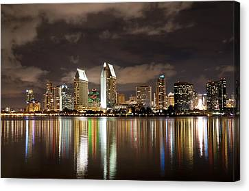 Canvas Print featuring the photograph San Diego Skyline 1 by Lee Kirchhevel