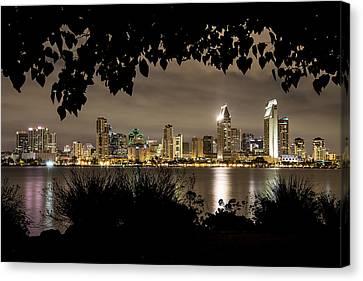 San Diego Skyline Framed 2 Canvas Print by Lee Kirchhevel