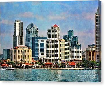 San Diego Skyline Canvas Print by Peggy Hughes