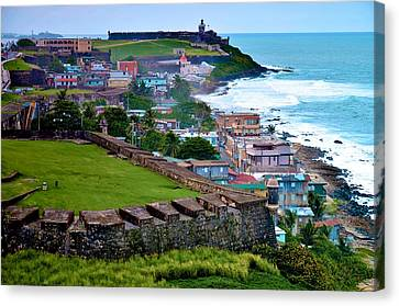 Canvas Print featuring the photograph San Felipe Del Morro Fortress From San Cristobal by Ricardo J Ruiz de Porras