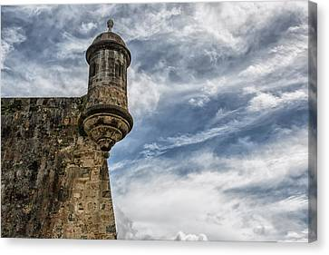San Felipe Watchtower On A Stormy Day Canvas Print by Andres Leon