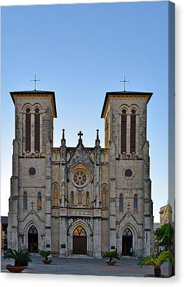 San Fernando Cathedral - San Antonio Tx Canvas Print by Christine Till
