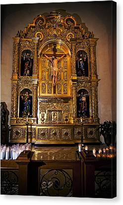 Canvas Print featuring the photograph San Fernando Cathedral Altar by Andy Crawford