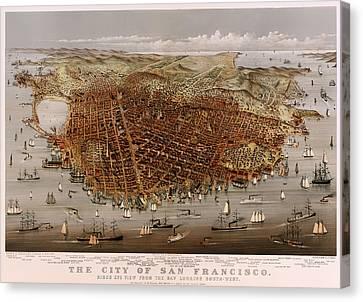 San Francisco 1877 Canvas Print by Mountain Dreams