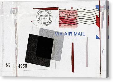 San Francisco 1952 Air Mail Canvas Print by Carol Leigh